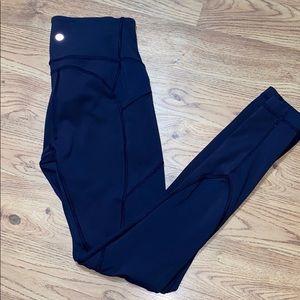Lululemon Blue Size 6 Speed  With Pockets Blue euc